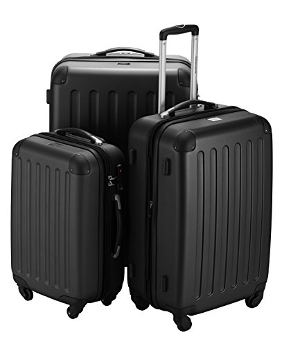 HAUPTSTADTKOFFER - Koffer Set Spree Trolley Gepäck Hartschale matt, Schwarz
