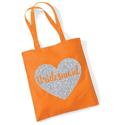 Edward Sinclair Bridesmaid Tote Bag - Wedding Gift Bag/ Hen Do Party Bag Orange