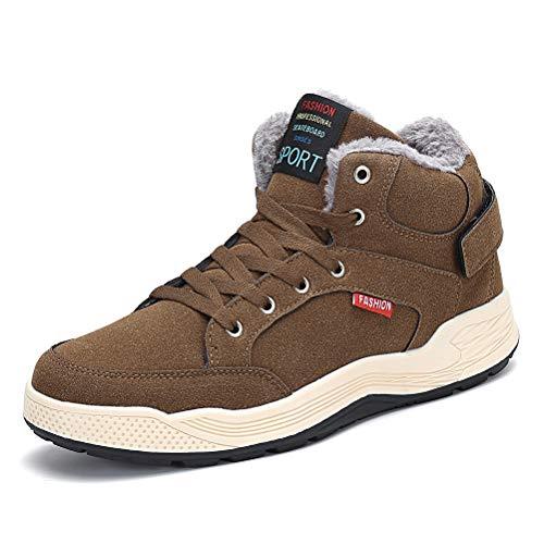 Resistente Resistente Uomo Sneaker Sneaker Scarpe AFFINEST Antiscivolo Caviglia Rivestimento e Outdoor Caldo Moda Brown all'usura Stivale Trekking con Invernali 6CUn1fdU