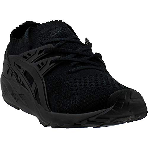 ASICS Mens Gel-Kayano Trainer Knit Athletic Shoes, Black, 4.5