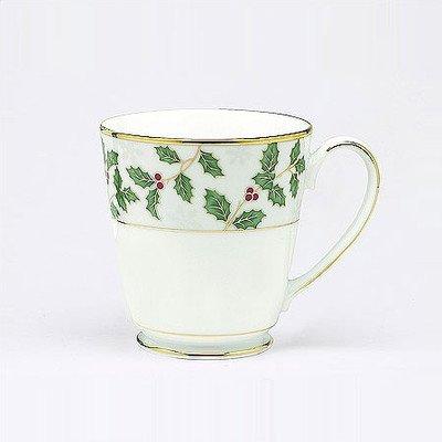 Noritake Holly and Berry Gold Mugs, Set of 4 -  Noritake CO., INC. - DROPSHIP, 037725536156