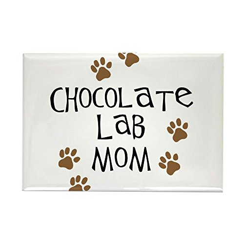 (CafePress Chocolate Lab Mom Rectangle Magnet Rectangle Magnet, 2