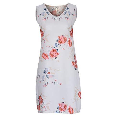 YKARITIANNA Summer New Women Sexy Sleeveless Printed Casual Princess Swing Mini Dress ()