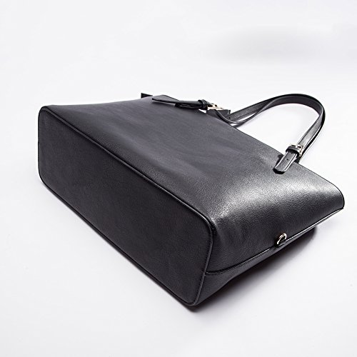 Tote Bag For Women,Miss Fong RFID Shoulder Bag For Women Travel Tote Bag with In Bag Organizer (Black) by miss fong (Image #5)