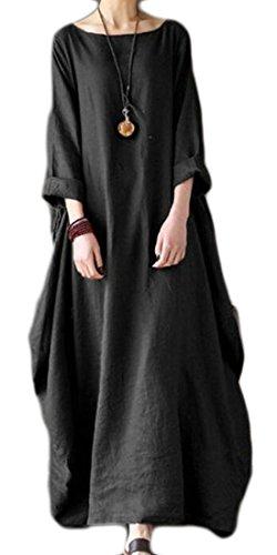 3/4 sleeve linen dress - 2