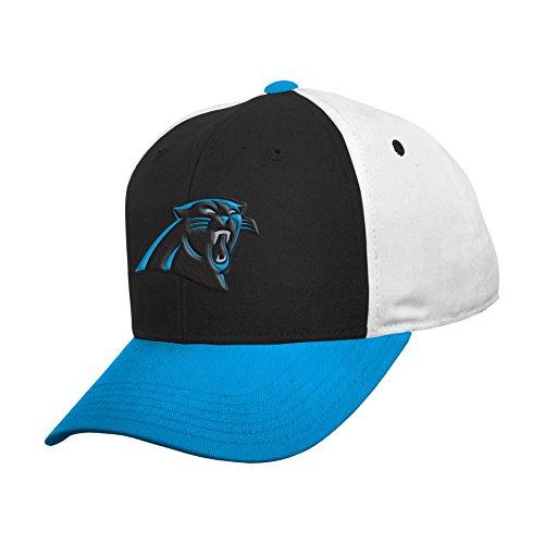 NFL by Outerstuff NFL Carolina Panthers Boys 8-20 Color Block Adjustable Cap, One Size, ()