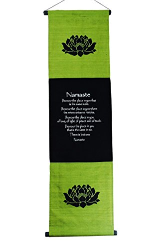 Cotton Namaste Inspirational Banner Scroll