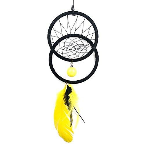 RagBear Dream Catcher Bag Charm For Women Black Large Blue Brown Men Pink Yellow ()