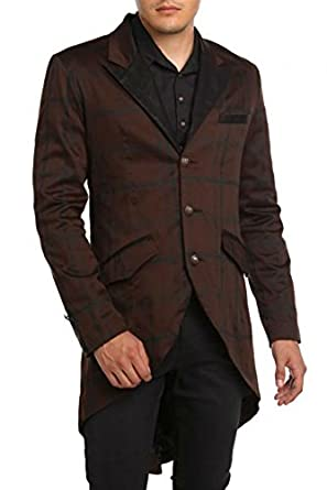 Men's Steampunk Jackets, Coats & Suits Lip Service Gothic Steampunk Victorian Tailored Tuxedo Blazer Tailcoat (XL) $119.99 AT vintagedancer.com