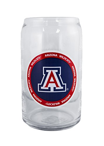 NCAA Arizona Wildcats 16oz Ring of Honor Glass Can (Wildcats Glass)