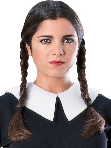 Rubie's Women's Family Wednesday Addams Wig, One Size]()