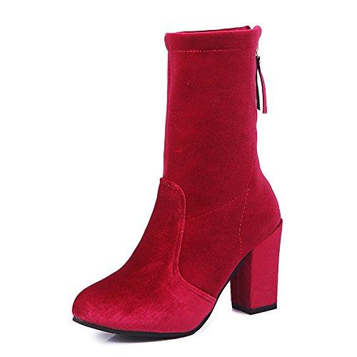 KHSKX-Tubo Elástico Tamaño De Zapato Botas Y Rough Heels Set Foot Leg Stretch De Gules Treinta Y Cinco Thirty-seven