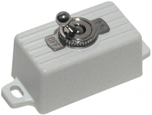 - SECO-LARM SS-076Q/SW ENFORCER SPST Toggle Switch, Attractive plastic case with 2 screw holes and pre-wired 6