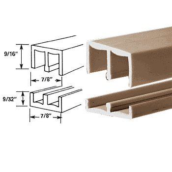 (CRL Tan EZY-Glide Plastic Track Assembly - 6 ft Long)