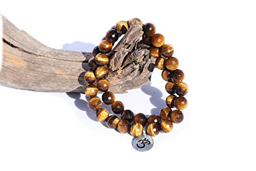 MeruBeads Small Size - Faceted Tigers Eye Wrap Bracelet for Women - Tigers Eye Bracelet - Tigers Eye Faceted Bracelet for - Strand Tiger Eye