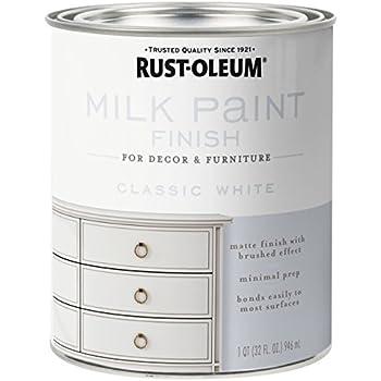 Rust Oleum 331049 Finish Milk Paint Quart Classic White