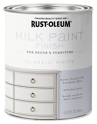 Rust-Oleum 331049 Milk Paint Finish, Quart, Classic White