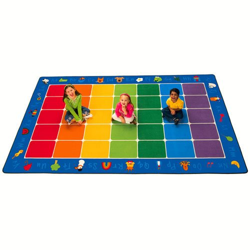 Carpets for Kids 9612 Fun with Phonics Rectangle Carpet 7'6