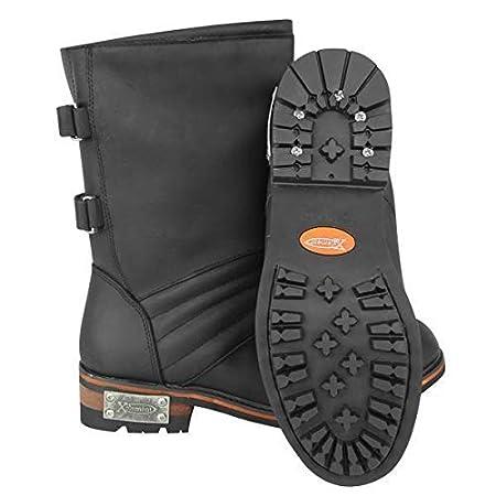 Xelement LU9607 Mens Black Two Buckle Motorcycle Engineer Boots 10