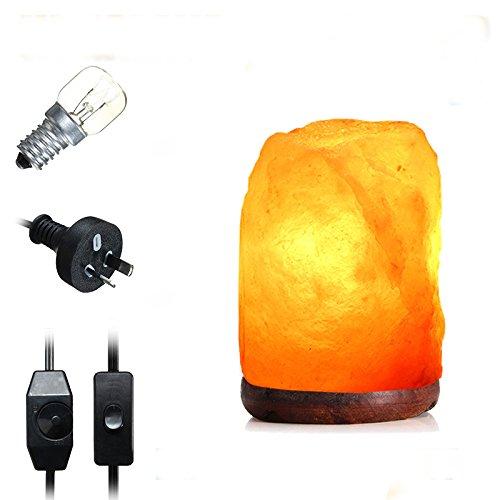 HTAIYN 14 X 10 CM Natürliche Himalaya Ionic Luftreiniger Rock Kristallsalz Lampe Tisch Nachtlicht popular (Farbe   Type Dimmer Switch)