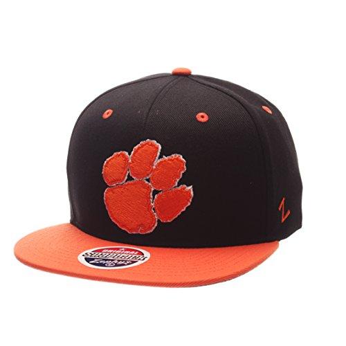 Zephyr NCAA Clemson Tigers Adult Men's Z11 Phantom Snapback Hat, Adjustable Size, Black/Team Color