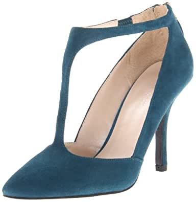Nine West Women's Blonsky Pump,Blue/Green Suede,9.5 M US