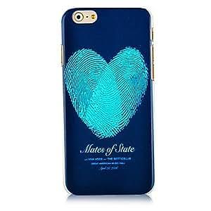 GX huella digital de la caja trasera dura patrón en forma de corazón para el iphone 6