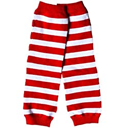Valentines Day Candy Cane Striped Cake Smash Leg Warmers Baby Boy Girl OS  Red White