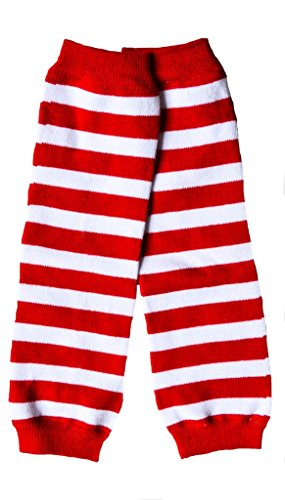 Red White Striped Cake Smash Leg Warmers Baby Boy Girl OS Halloween (Red And White Striped Leg Warmers)