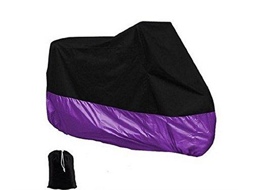 wetietirサイクル自転車オートバイSunscreen防塵、防水カバー(ブラック/パープル) の保護   B07FMSJ455