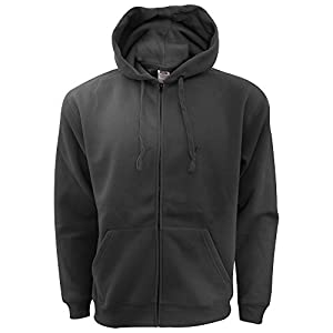 Fruit Of The Loom Mens Zip Through Hooded Sweatshirt / Hoodie (L) (Black)