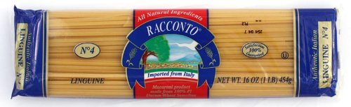 Racconto Wide Linguine, 16-Ounce Packages (Pack of 20)