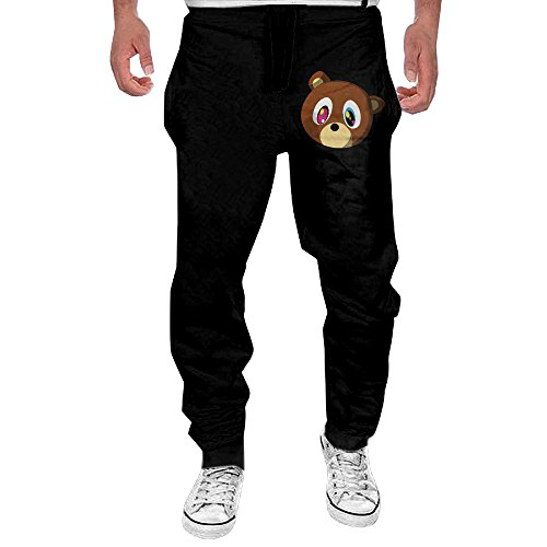 [MULY Mens Canye Cute Bear Sweatpants Long Work Pant XXL] (Tim Drake Costume)
