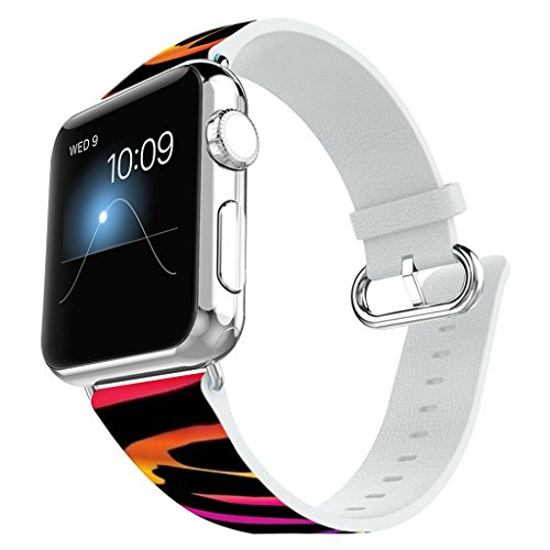 Apple Watch Band 38MM 100% Leather + Stainless Steel Connector iWatch Bands for Apple Watch 38mm - Colorful - Watch Harry Band Potter