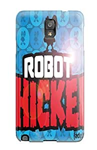 New Galaxy Note 3 Case Cover Casing(robot Chicken )