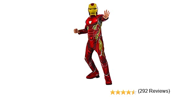 Avengers - Disfraz oficial de Iron Man Deluxe para niños, Infinity ...