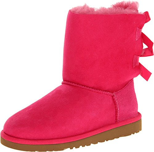 UGG Australia Girls Kids Bailey Bow Cerise Winter Boot - 5 (Bailey Bow Uggs For Girls)