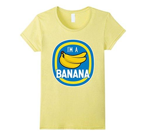 Halloween Costumes Banana (Womens I'm A Banana Costume Funny Food Halloween Shirt Adults Kids Small Lemon)