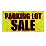 Parking Lot Sale #1 Outdoor Advertising Printing Vinyl Banner Sign With Grommets - 2ftx3ft, 4 Grommets