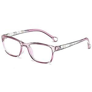 Fantia Ultra-light And Comfortable Kids Eyeglasses Frame Retro Square Optical Glasses (B)