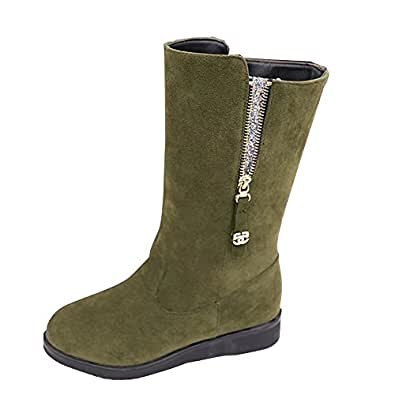Amazon.com | LUNIWEI Women Boots Flat Winter Warm Snow