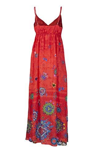 18swmw17 Rosso Vestito Vest Desigual Vera Donna Lungo wZqRR8XTx