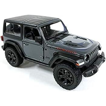 Grey Jeep Wrangler >> Jeep Wrangler Rubicon 4x4 Hard Top Off Road Exploration Diecast Model Toy Car Grey