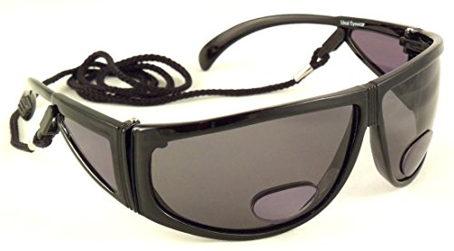 Polarized Bifocal Sunglasses by Ideal Eyewear - Sun Readers with Retention Cord, Great for Fishing, Boating, Golf, Reading Outdoors