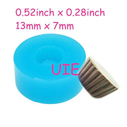 163LBG Cupcake 13mm Tart Bottom Silicone Flexible Push Mold - Miniature Food Sweets (Clay Fimo Resins Gum Paste)