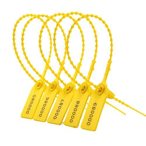 Leadseals(R) Yellow Numbered Security Zip Ties