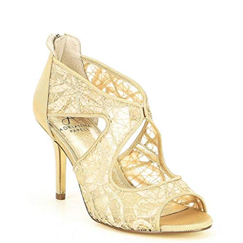 Adrianna Papell Women's Arissa Dress Shooties, Gold Chagall Lace, 6 M