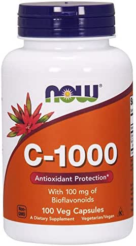 Now Supplements, Vitamin C-1,000 with 100 mg of Bioflavonoids, Antioxidant Protection*, 100 Veg Capsules
