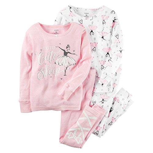 Carter's Girls' 12M-12 4-Piece Tutu Cute To Sleep Pajama Set (Girls Carters 2 Piece Pajamas)