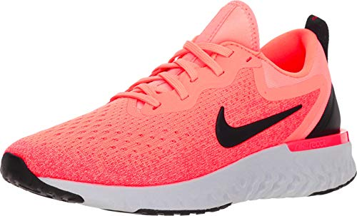 Nike Women's Odyssey React Running Shoe LT Atomic Pink/Black-Flash Crimson 10.0 (Nike For Wedge Women Sneakers Red)